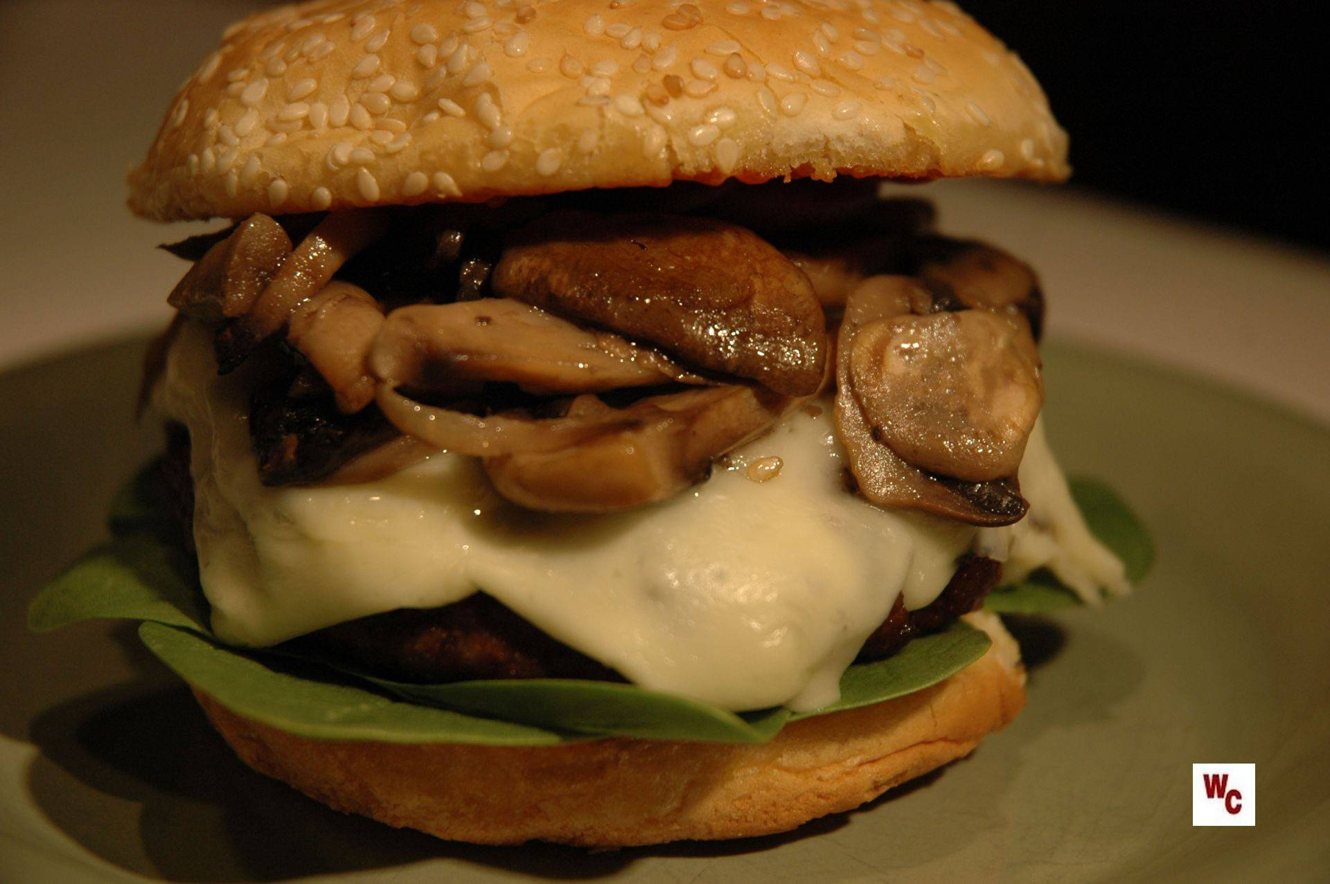 Monterey Jack and Mushroom Burger | What's Cooking