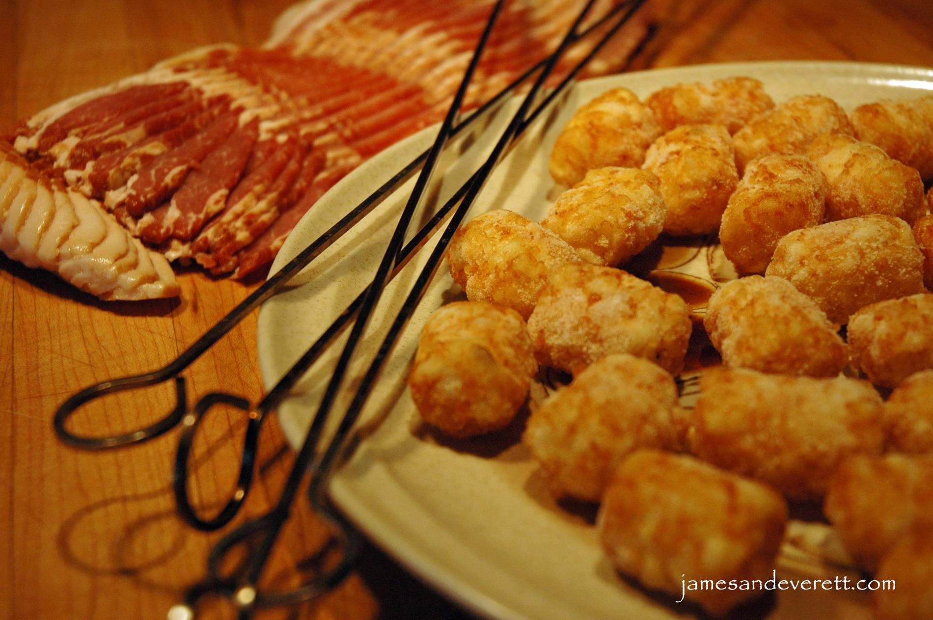 Bacon-Wrapped Tater Tots | What's Cooking