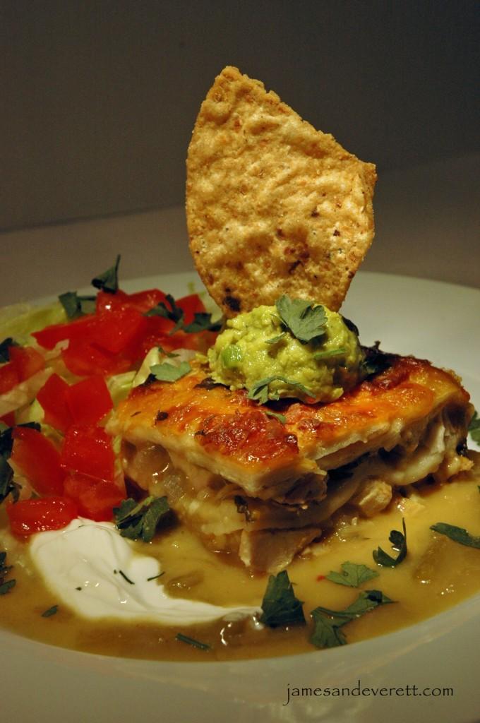 Beer Chicken Green Chile Enchiladas Recipe — Dishmaps