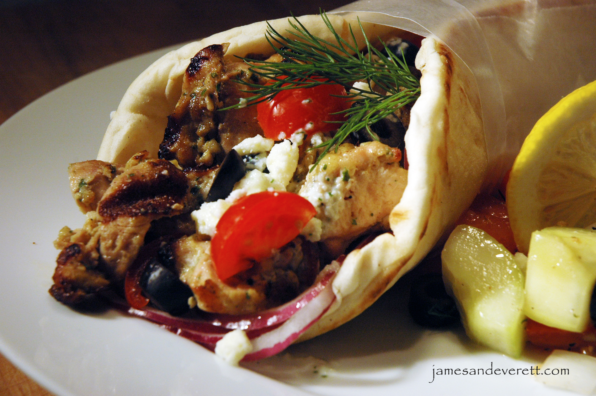 Chicken Souvlaki Gyros with Tzatziki Sauce | What's Cooking