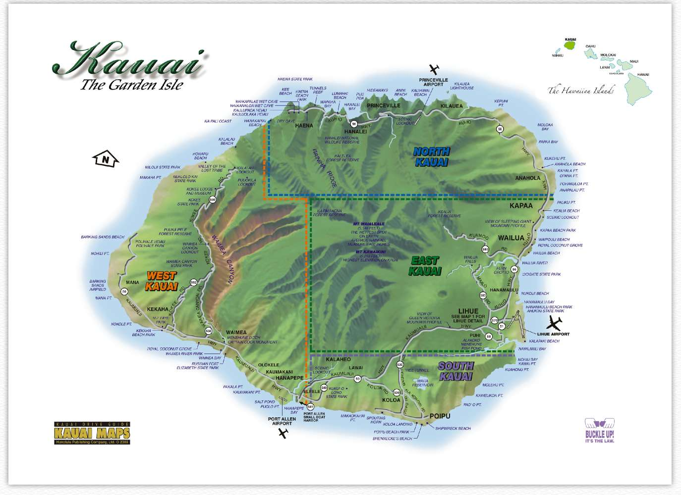 island map  . kauai recreation  kauai resources