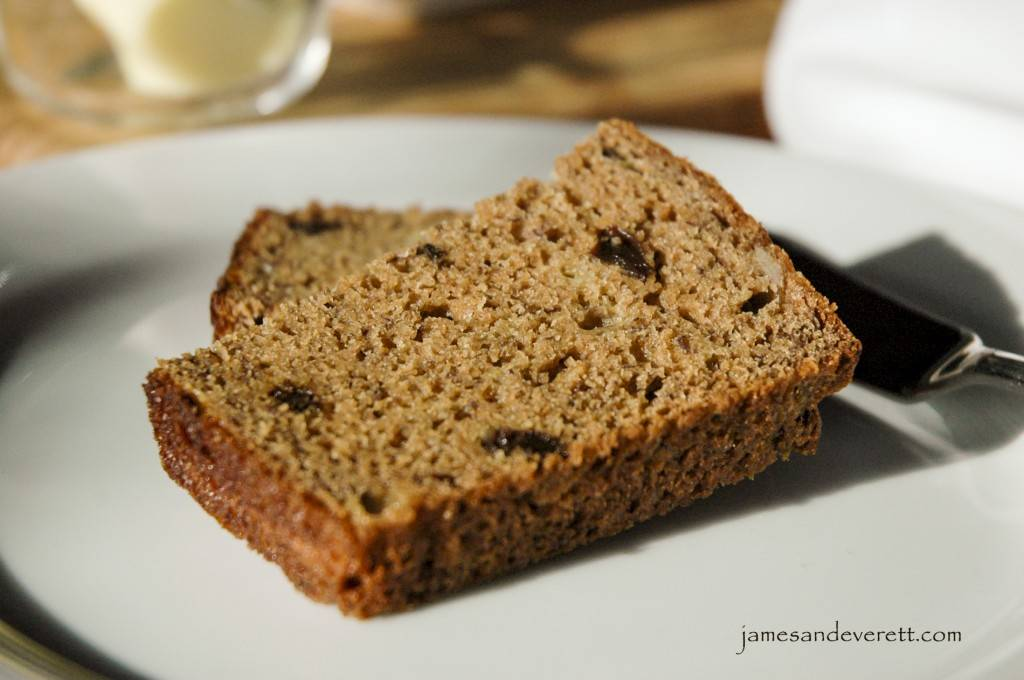 Applesauce & Honey Whole Wheat Banana Bread | James & Everett