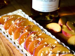 Honey Whiskey Peach Tart