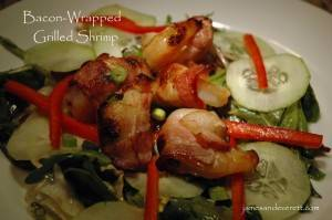 Bacon-wrapped Grilled Shrimp