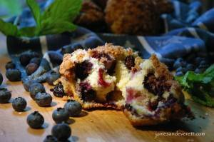Crumble Top Blueberry Muffin