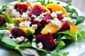 Beet Orange & Feta Salad