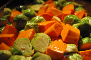 Brussels Sprouts & Yams