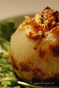 Blue Cheese & Bacon Stuffed Onion